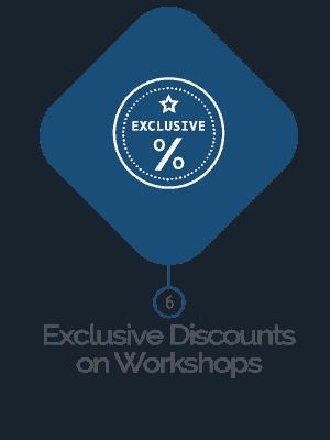 Exclusive Discount on Workshops
